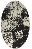 rug #1107242   oval black natural rug