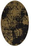 rug #1107246   oval brown damask rug