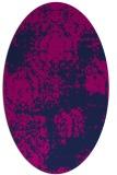 rug #1107254 | oval blue faded rug