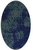 rug #1107258 | oval blue damask rug