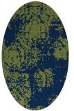 rug #1107262 | oval green damask rug