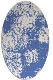rug #1107266 | oval blue faded rug