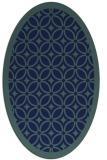 rug #110729   oval blue-green circles rug