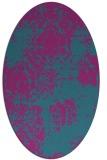 rug #1107302 | oval pink natural rug