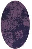 rug #1107318 | oval purple damask rug
