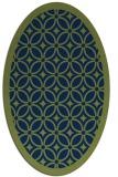rug #110733 | oval blue rug