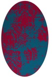 rug #1107342 | oval blue-green rug