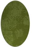 rug #1107346 | oval green traditional rug