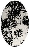 rug #1107362 | oval black natural rug