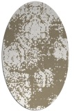 rug #1107378 | oval white faded rug
