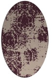 rug #1107382 | oval pink natural rug