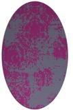 rug #1107387 | oval faded rug