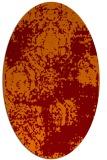 rug #1107423 | oval traditional rug