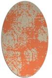 rug #1107430 | oval orange damask rug