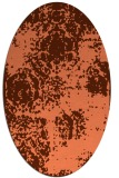 rug #1107434 | oval orange damask rug