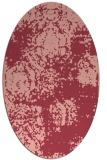 rug #1107446   oval pink rug