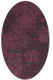 rug #1107454 | oval purple traditional rug