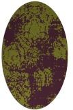rug #1107458   oval purple faded rug