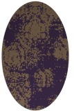 rug #1107462 | oval mid-brown natural rug