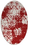 rug #1107478 | oval red damask rug