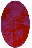 rug #1107482 | oval red faded rug