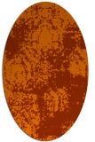 rug #1107486 | oval red-orange damask rug