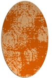 rug #1107490 | oval red-orange damask rug
