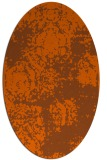 rug #1107494 | oval red-orange damask rug
