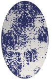 rug #1107514 | oval white faded rug