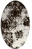 rug #1107518   oval brown damask rug