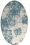 rug #1107526 | oval white faded rug