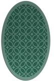 rug #110753   oval blue-green circles rug