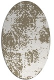 rug #1107530 | oval white faded rug