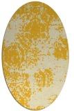 rug #1107534 | oval yellow faded rug