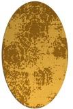 rug #1107546   oval light-orange damask rug