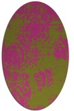 rug #1107562 | oval light-green rug