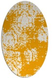 rug #1107570 | oval light-orange damask rug
