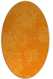 rug #1107578 | oval light-orange faded rug