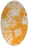 rug #1107582 | oval light-orange damask rug