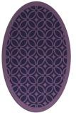 rug #110793 | oval purple borders rug