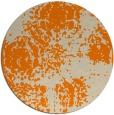 rug #1107954 | round orange damask rug