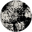 rug #1107958 | round black damask rug