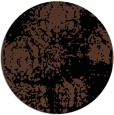 rug #1107970 | round black traditional rug