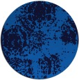 rug #1107986 | round blue faded rug