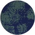 rug #1107994 | round blue traditional rug