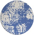 rug #1108002 | round blue faded rug