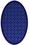 rug #110801   oval blue-violet borders rug