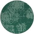 rug #1108010 | round blue-green natural rug