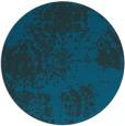 rug #1108022 | round blue rug
