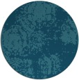 rug #1108026 | round blue-green faded rug